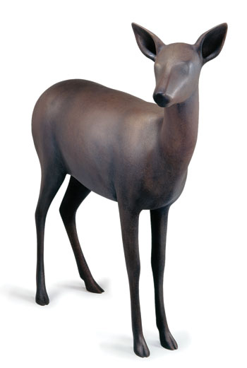 """Deer 1"" by Gwynn Murrill. Bronze at Diehl Gallery"
