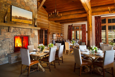 Clubhouse dining at Snake River Sporting Club
