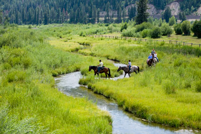 Morning ride at Snake River Sporting Club