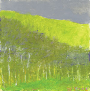 Green Under Green Trees by Wolf Kahn. Oil on canvas at Tayloe Piggott Gallery