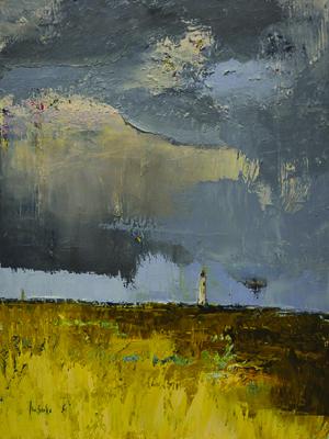 Monday's Storm by Elsa Sroka. Oil on canvas at Terzian Galleries