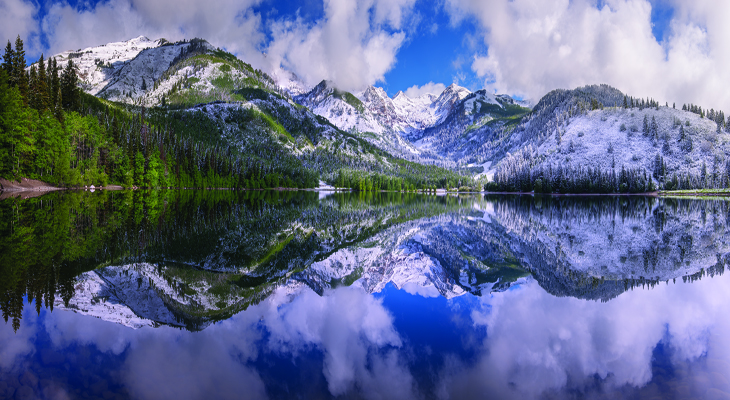 Perfect Reflection on Silver Lake, American Fork Canyon, Utah