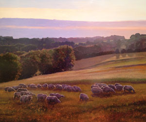"""""""Mouton Perdu"""" by Kent Lovelace.  Oil on copper at Kneeland Gallery"""