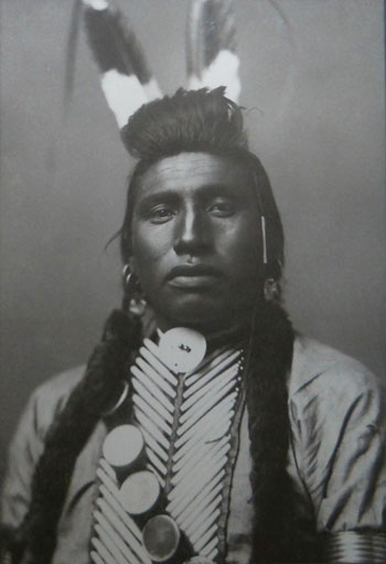 """White Bull Portrait"" by Frank J. Haynes. Photograph circa 1900 at Cayuse"